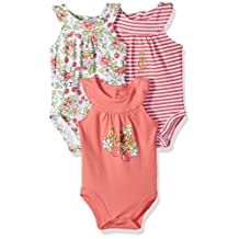 Juicy Couture baby-girls Baby Baby Girls' 3 Pack Bodysuits