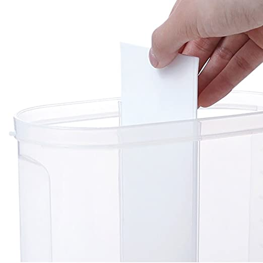 Dispensador de cereal hermético Contenedor de almacenamiento de bocadillo con tapa giratoria superior para harina seca Azúcar de nuez de harina: Amazon.es: ...