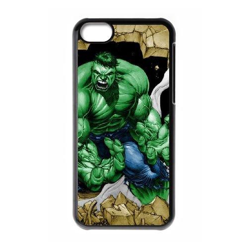 P1I04 Hulk P8Z9SO cas d'coque iPhone de téléphone cellulaire 5c couvercle coque noire KS1IPR1PJ