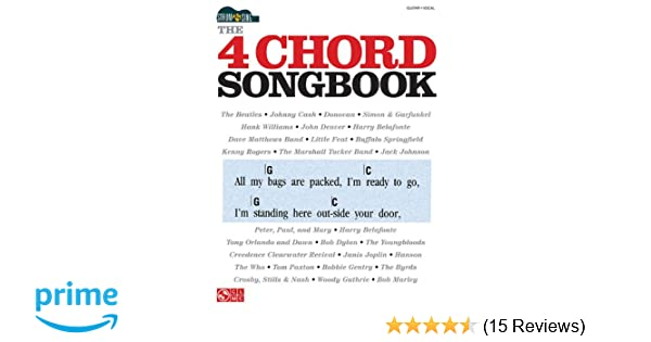 Amazon The 4 Chord Songbook Strum Sing Series 0884088500443