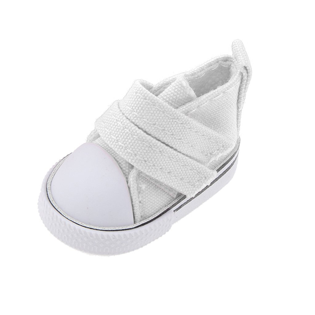 6dac54328ee97 Amazon.com: MagiDeal 1/6 Sticky Strap Canvas Shoes Flats Sneakers ...