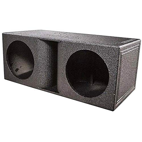 Qpower Qbomb Dual Vented Horn Ported Subwoofer Box Finished with Bed Liner
