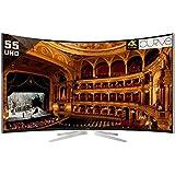 Vu 139cm (55) Ultra HD (4K) Smart Curved Luxury LED TV WI-FI (TL55C1CUS,3 x HDMI, 2 x USB)