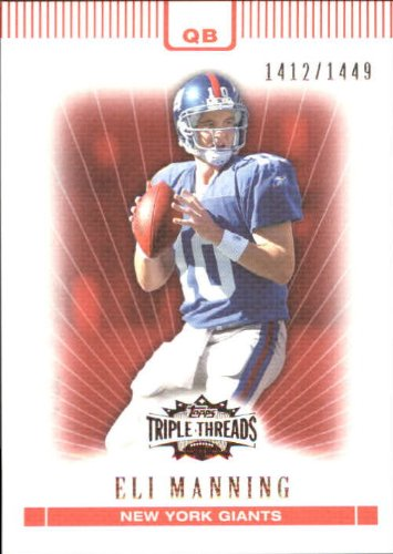 2007 Topps Triple Threads Football Card #7 Eli Manning