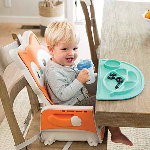 510IiuULeEL - Infantino 4-in-1 Highchair - Space-Saving, Multi-Stage Booster And Toddler Chair With Multi-use Meal Mat And Dishwasher-Safe Tray, In A Fox-Themed Design