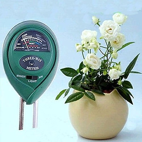 Prime 3 in1 Moisture Light Meter Hydroponics Analyzer pH Tester Plant Flowers Soil by GrandSiri