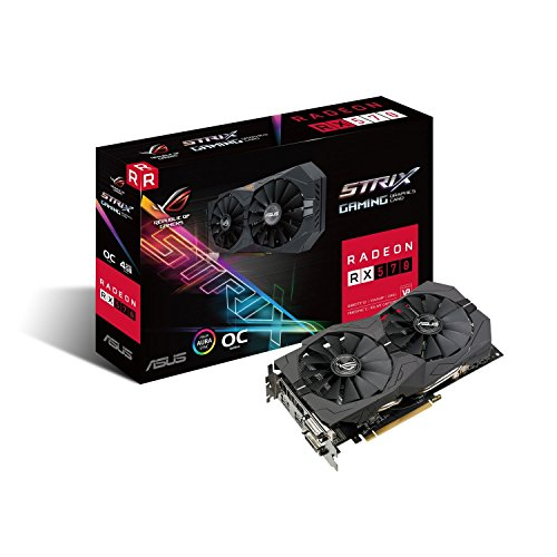 Placa de Video ASUS Radeon RX 570 OC 4GB DDR5 256 BITS - ROG-STRIX-RX570-O4G-GAMING