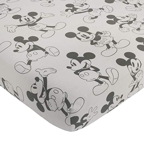Disney Mickey Mouse Fitted Mini Crib Sheet, -