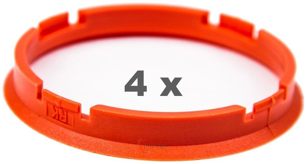 4/x Bague de Centrage 73.0/mm vers 67,1/mm Orange