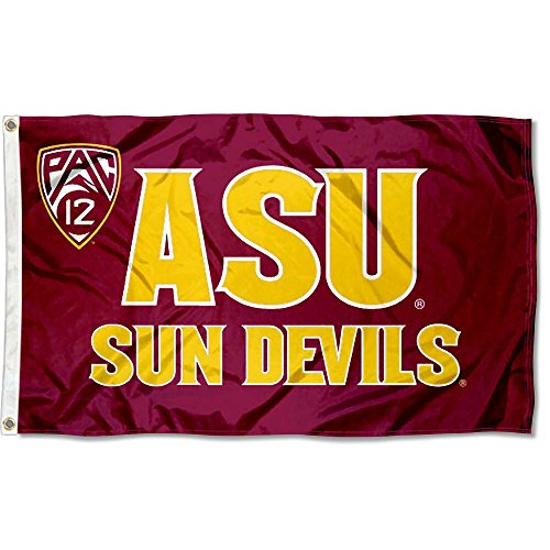 College Flags and Banners Co. Arizona State Sun Devils Pac 12 Logo Flag -