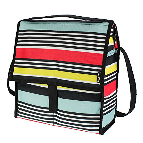 PackIt Freezable Picnic Bag with Zip Closure, Surf Stripe]()