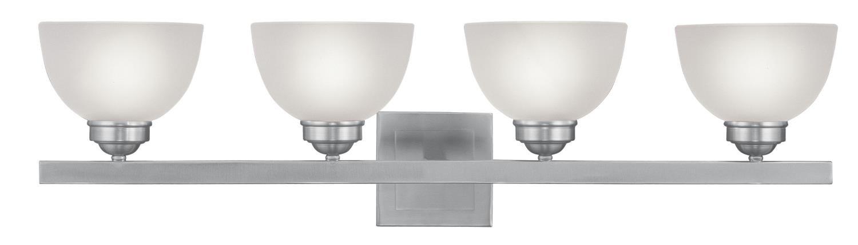 浴室洗面化粧台4ライトニッケル仕上げサテンガラスの世界で400ワット – サイズ34クリスタル B01N29XDLL