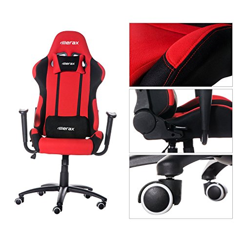 Amazon.com: Merax Ergonomic Office Race Car Seat Racing Chair Gaming Chair  Executive Computer Chair, Black/Red: Home U0026 Kitchen