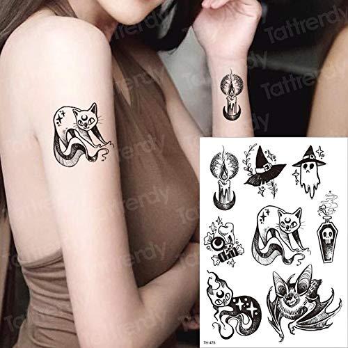 tzxdbh Sexy Tatuaje Temporal Gato Magia Transferencia de Tatuaje ...