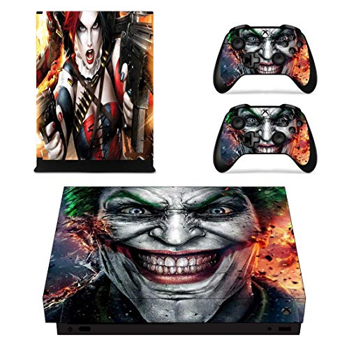 Adventure Games – XBOX ONE X – Harley Quinn, Joker – Vinyl Console Skin Decal Sticker + 2 Controller Skins Set