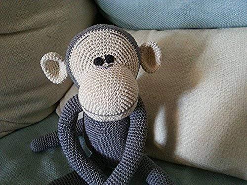 Ernesto _ gehäkelte Affe. Geschenk für Kinder und Babys. Sammelgeschenk. anpassbare Puppe mit Herz