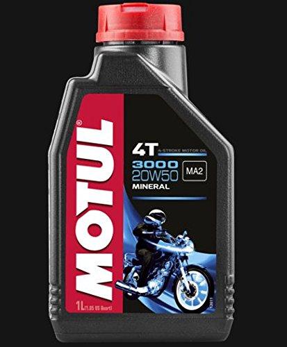 ACEITE MOTUL PARA MOTOCICLETA 4 TIEMPOS 3000 20W50 1 LITRO ACEITE DE MOTOR