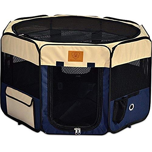 Petmate Precision Pet Soft Side Play Yard with Heavy Duty Carrying Case