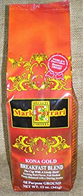 Kona Gold-Breakfast Blend All Purpose Ground (Signature Kona Blend) 12oz.