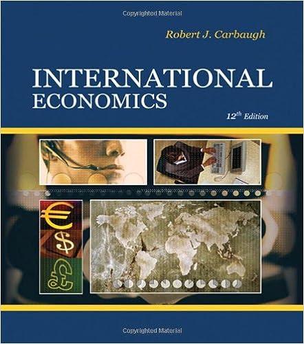 International economics robert carbaugh 9780324581485 amazon international economics 12th edition by robert carbaugh fandeluxe Gallery