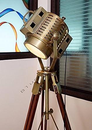 vintage industrial floor lamp theater stage nautical spotlight task lamp