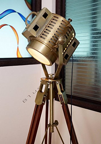 Vintage Industrial Floor Lamp Theater Stage Nautical Spotlight Task Lamp
