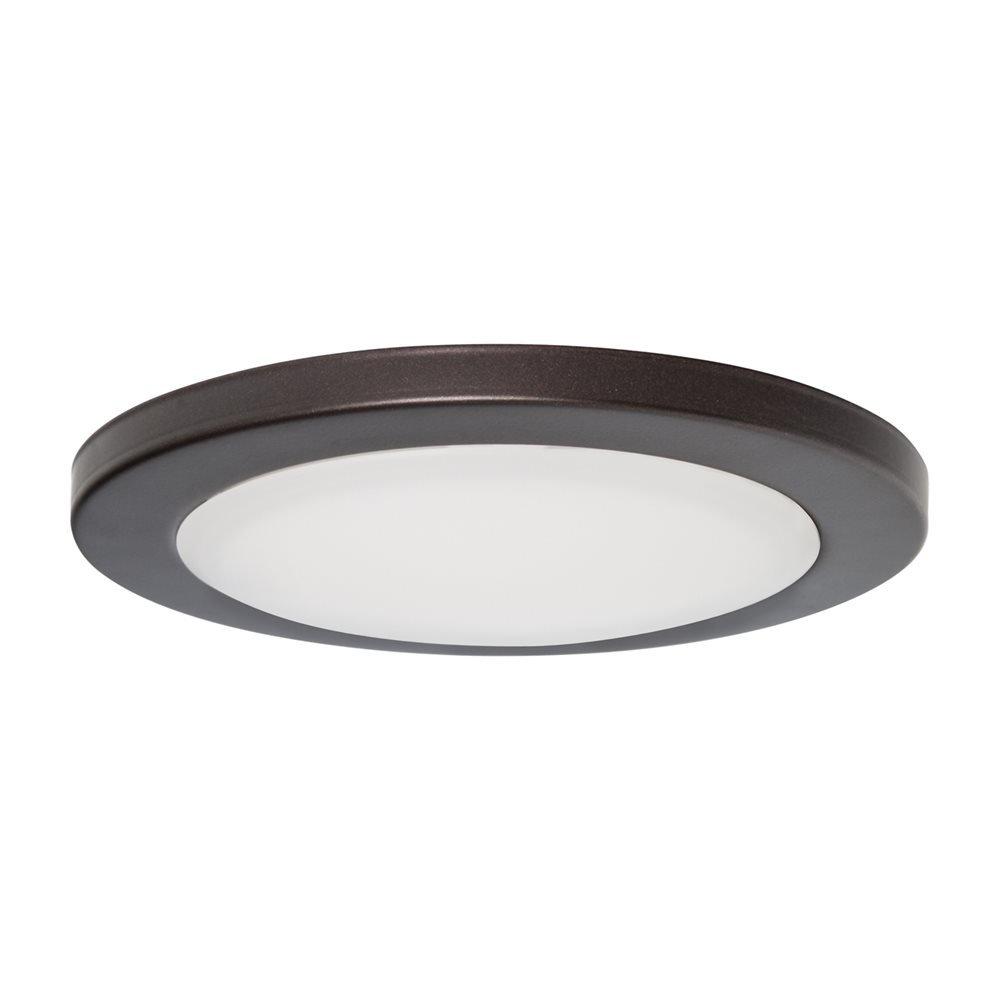 5.5'' LED Surface Slim Round Disk Light 120V 12W 3000K Dimmable (Bronze)