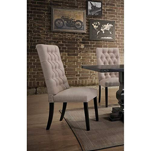 Best Master Furniture Michelle Upholstered Tufted Dining Chair - Set of 2 Taupe ()