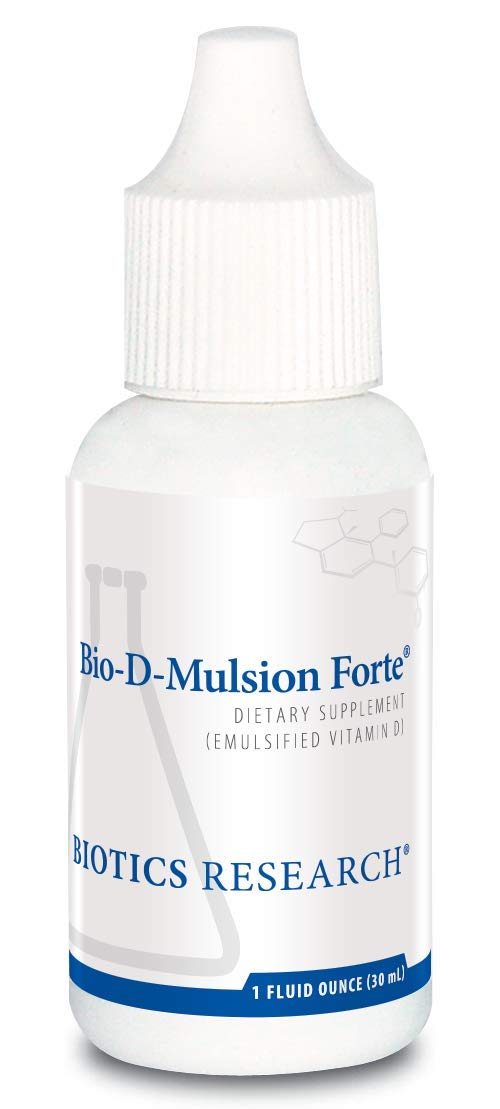 Biotics Research Bio D Mulsion Forte Vitamin D3 Liquid Drops 50 for Best Absorption, Strengthens Bones, Supports The Immune System, Cardiovascular System