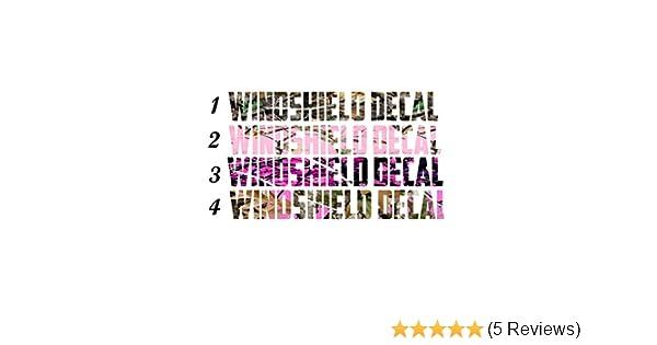 Decal Assorted Heaven Custom Camo Windshield Decals