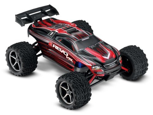 Traxxas E-Revo VXL: 1/16-Scale 4WD Racing Monster Truck with TQi 2.4GHz Radio & TSM, Red