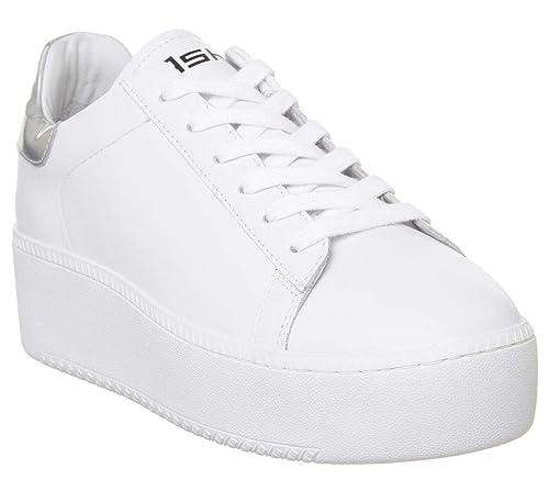 c89e1f6d03 Ash Footwear Scarpe Cult Sneaker Ariel Bianco Donna: Amazon.it ...