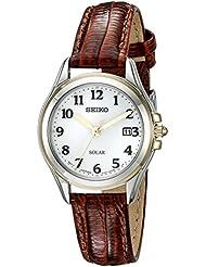 Seiko Womens SUT252 Solar Analog Display Japanese Quartz Brown Watch