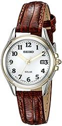 Seiko Women's SUT252 Solar Analog Display Japanese Quartz Brown Watch