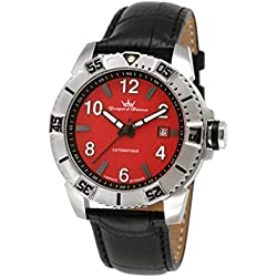 Yonger & Bresson Men's YBH 8319-15 C Red dial watch.