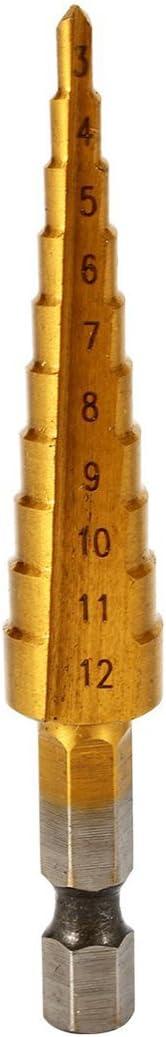 WOVELOT BI106 metal, titanio, tama/ño del orificio: 3-12 mm Avellanador c/ónico grande