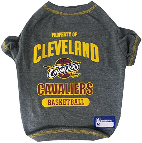 NBA Cleveland Cavaliers T-Shirt for Dog, T-Shirt for cat, Size: Small. - A Sports Licensed Shirt for Any Occasion!