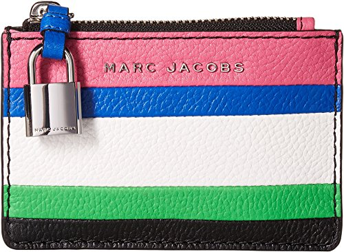 Marc Jacobs Women's The Grind Color Blocked Top Zip Wallet Vivid Pink Multi One Size by Marc Jacobs