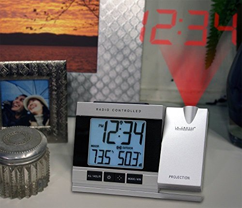 Projection Clock Alarm w/Indoor/Outdoor Temp. La Crosse Technology BestDealer ()