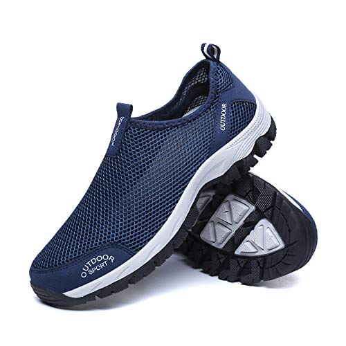 Herren Outdoor Fitnessschuhe Atmungsaktive Mesh Schuhe Sport Gr/ö/ße 39-48 Size Slipper mit Klettverschluss Sportschuhe Sneaker Turnschuhe Laufschuhe Pumps Aquaschuhe Badeschuhe Strandschuhe