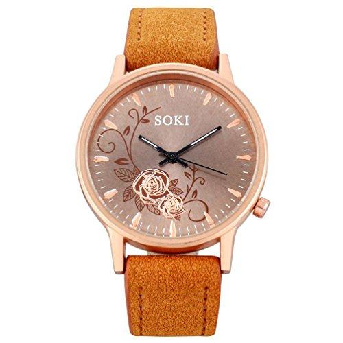 Axiba Retro Quartz Watch,Hosamtel Women Men Simple Casual Quartz Analog Wrist Watches (D)