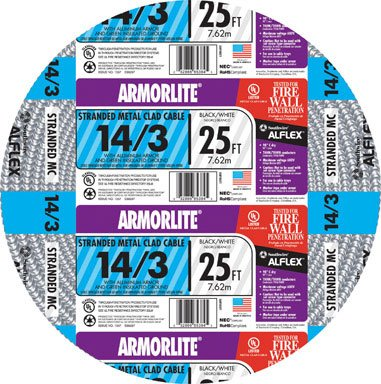 CABLE MC14-3STR AL25' by MC ARMORLITE MfrPartNo 55018021