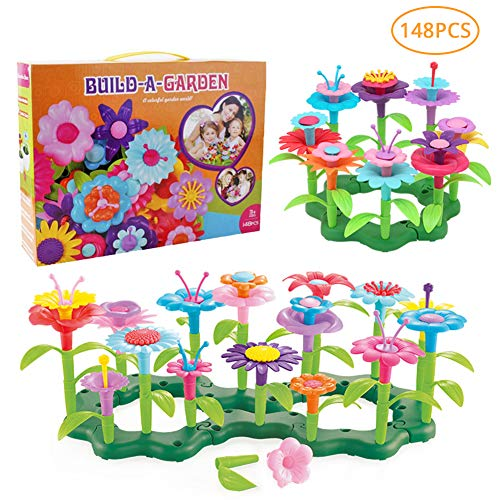 Find Discount Flower Garden Building Toys for Girls - Toy Gardening Pretend Gift for Kids - Stacking...