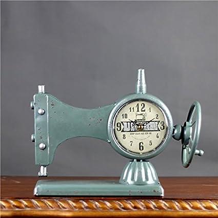 ZH-Otras máquinas de coser creativa decoracion retro reloj adornos de hierro forjado casa,