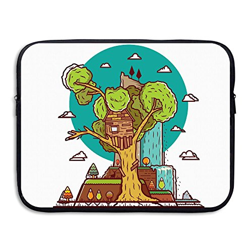 Reteone Laptop Sleeve Bag House On Trees Cartoon Art Cover Computer Liner Package Protective Case Waterproof Computer Portable -