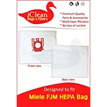 Miele Canister Vacuum Cleaner FJM HEPA bags by iClean Vacuums (30 Bags)