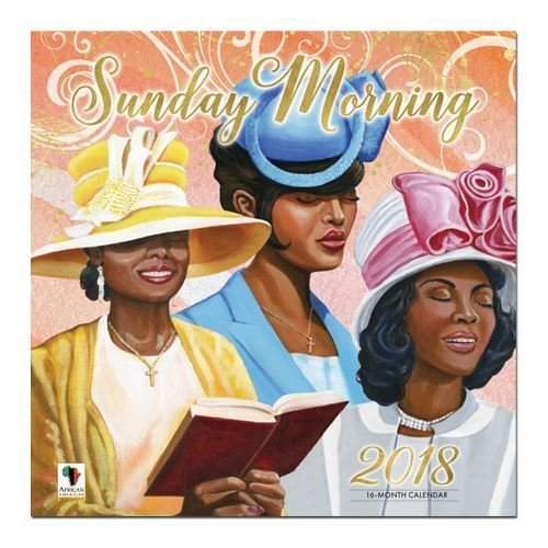"Office Products : African American Expressions - 2018 Sunday Morning 16 Month Calendar (12"" x 12"") WC-161"