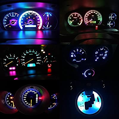 T5 LED Bulb Dashboard Dash Lights Blue 8000K 3030 SMD Wedge Base for Car Truck Instrument Indicator Air Conditioning AC Lamp Auto Interior Accessories Kit Bright 12V 1W 1 Year Warranty 10Pcs【1797】: Automotive