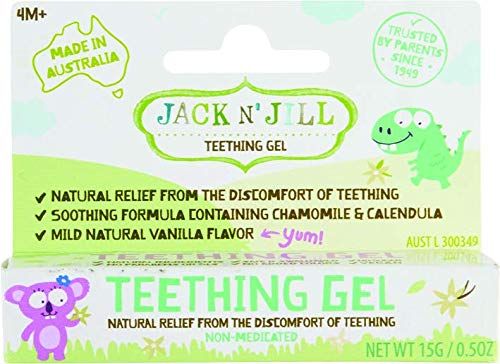 Jack n Jill Teething Gel 4 Months Vanilla 0 5 oz 15 g