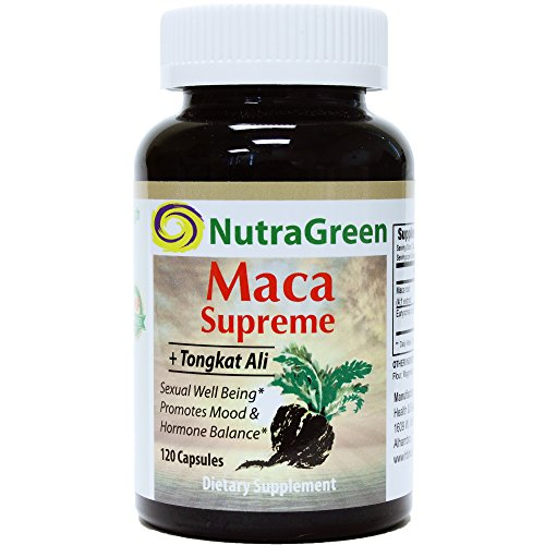NutraGreen Maca Root 800mg Hi-Bioavailability with Tongkat Ali Boosts Energy, Stamina, Memory, Hormone & Fertility for Men & Women, 120 Capsules For Sale